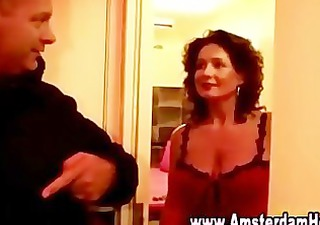 Mature real prostitute in stockings