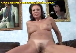 Naughty brunette mom likes playing with hard