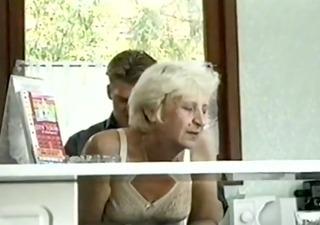 ficky martin fucks a blonde hairy granny very