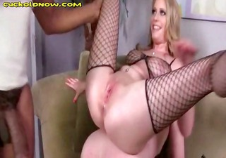 Husband getting cuckolded and wife lays on top of